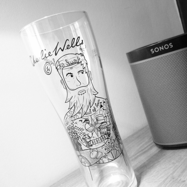 Charlie Wells Pint Glass