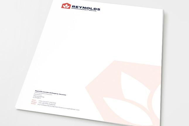Reynolds Branding Letterhead Design