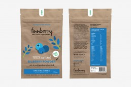 artwork for the finnberry blueberry packaging design