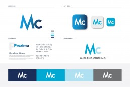 Midland Cooling, Air Conditioning Company, Logo and Brand Sheet including Colourway.