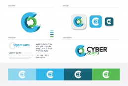 Cyber-Compli, Cyber Security Business Logo and Brand Sheet including Colourway.
